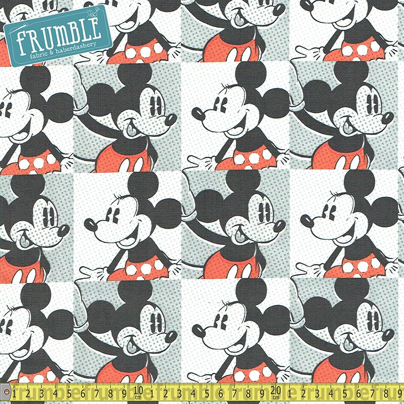 Disney Mickey Mouse and Minnie Pop Art Multi - Frumble Fabrics