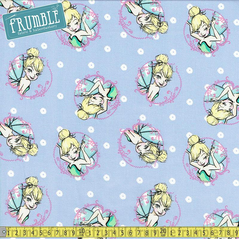 Disney Tinkerbell Toss Lavender Fabric by Springs Creative