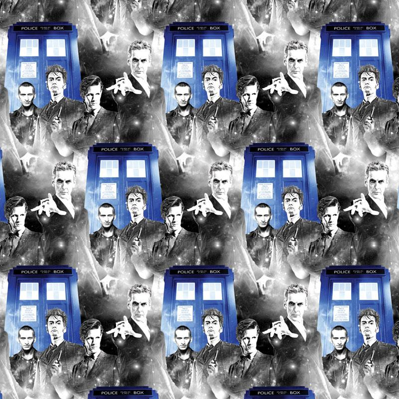 Doctor Who Public Phone Call Multi Fabric by Springs Creative