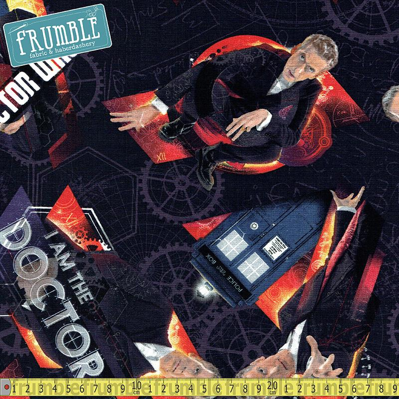 Doctor Who I Am The Doctor Black - Frumble Fabrics
