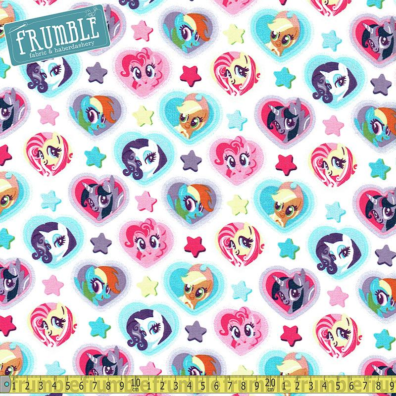 My Little Pony Heart Toss Multi Fabric by Springs Creative