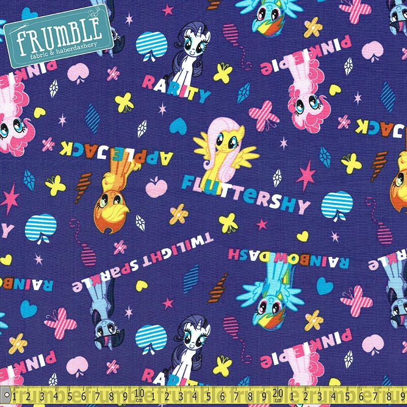 My Little Pony Ponies And Names Purple - Frumble Fabrics