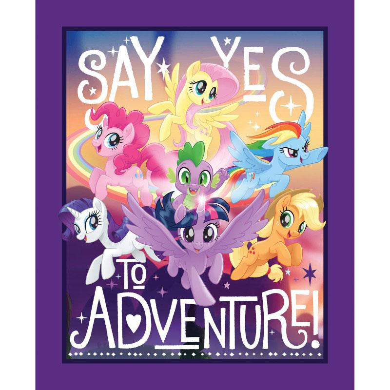 My Little Pony Say Yes to Adventure Panel Fabric by Springs Creative