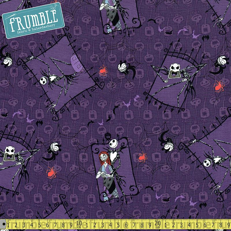 Nightmare Before Christmas CPL Purple Fabric by Springs Creative