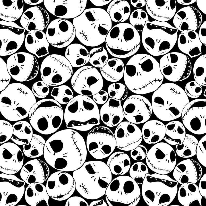 Nightmare Before Christmas Packed Jack Black Fabric by Springs Creative