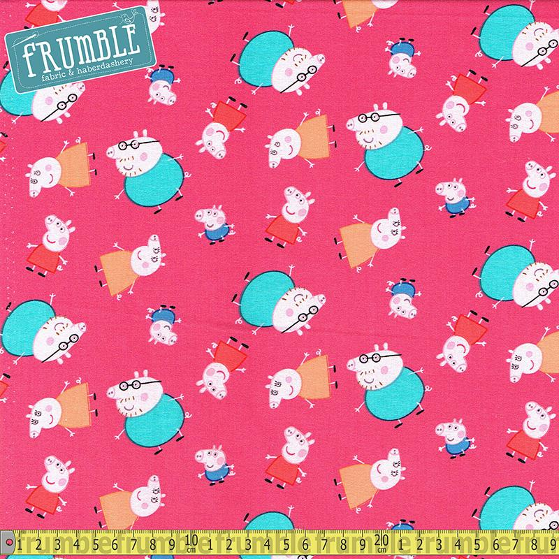 Peppa Pig One Big Family - Frumble Fabrics