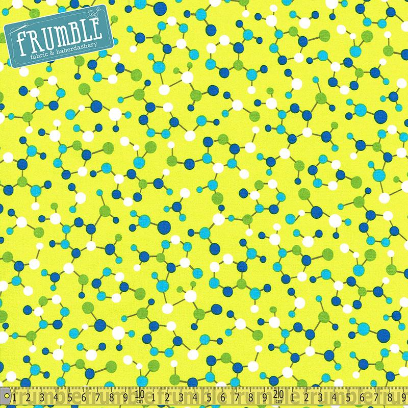 Geek Chic Molecules Lime - Frumble Fabrics