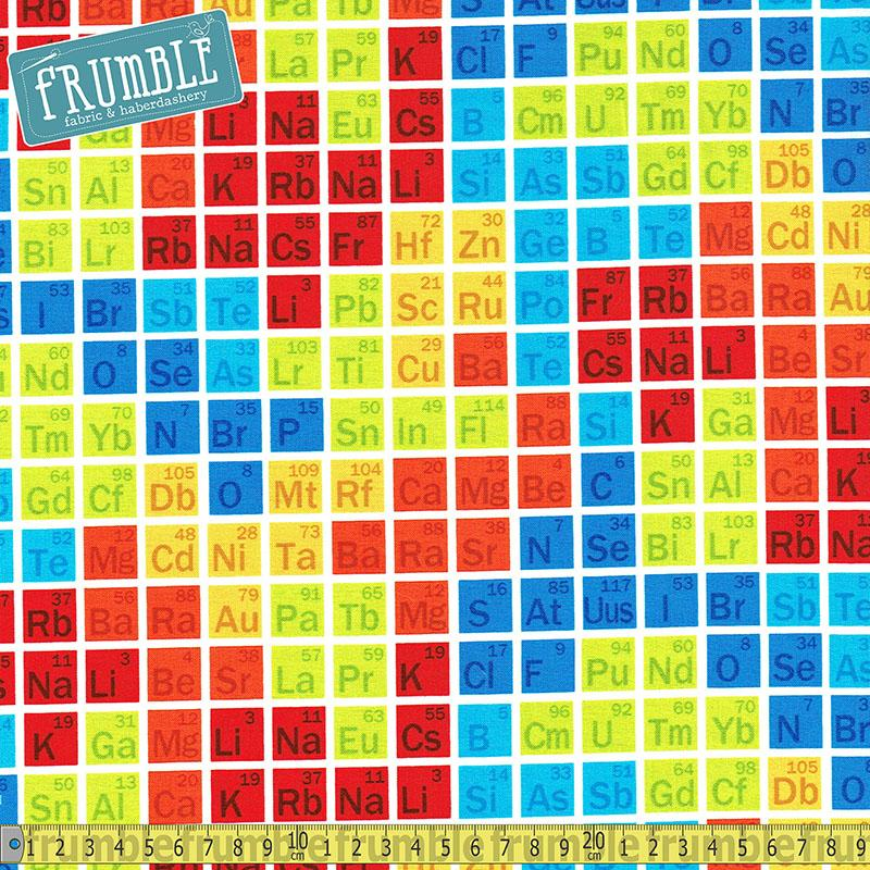 Geek Chic Periodic Table Multi - Frumble Fabrics