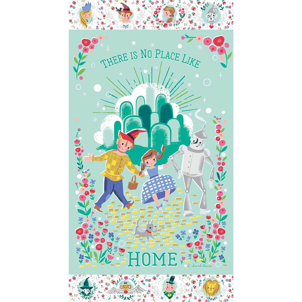 Dorothys Journey Home 60cm Panel Mint Sparkle - Frumble Fabrics