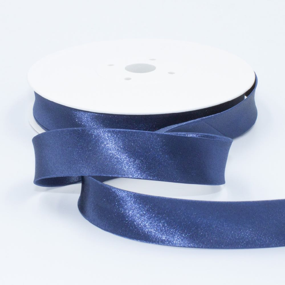 18mm Plain Satin Bias Binding - Frumble Fabrics