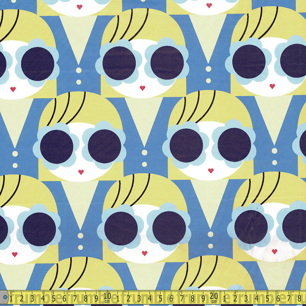 Raincoat Fabric Groovy Girl Blue - Frumble Fabrics