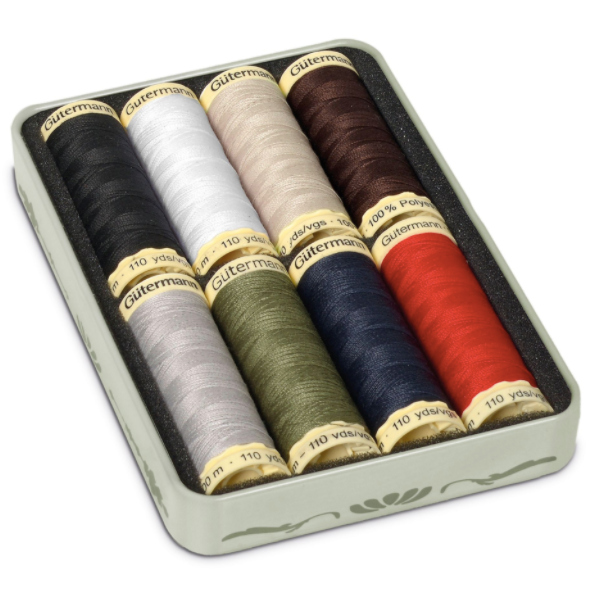 Gutermann Nostagia Tin of Threads x8 - Classic - Frumble Fabrics