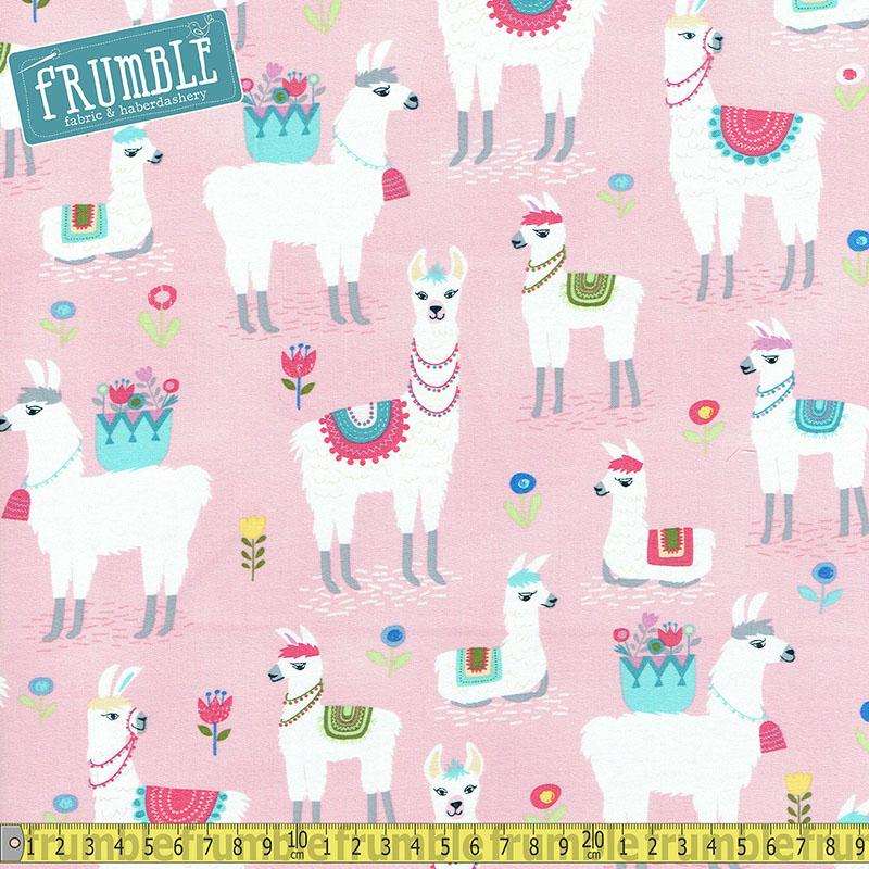 Alpaca Pink Fabric by Timeless Treasures
