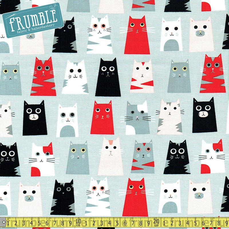 Box Cats Grey Fabric by Timeless Treasures