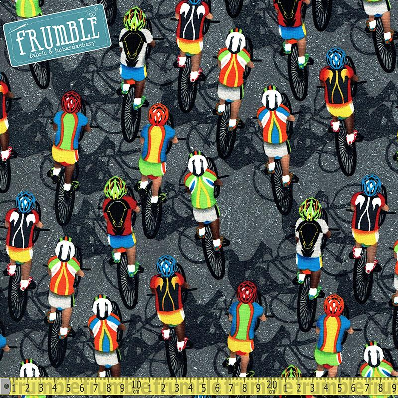 Cycling Overhead Grey - Frumble Fabrics