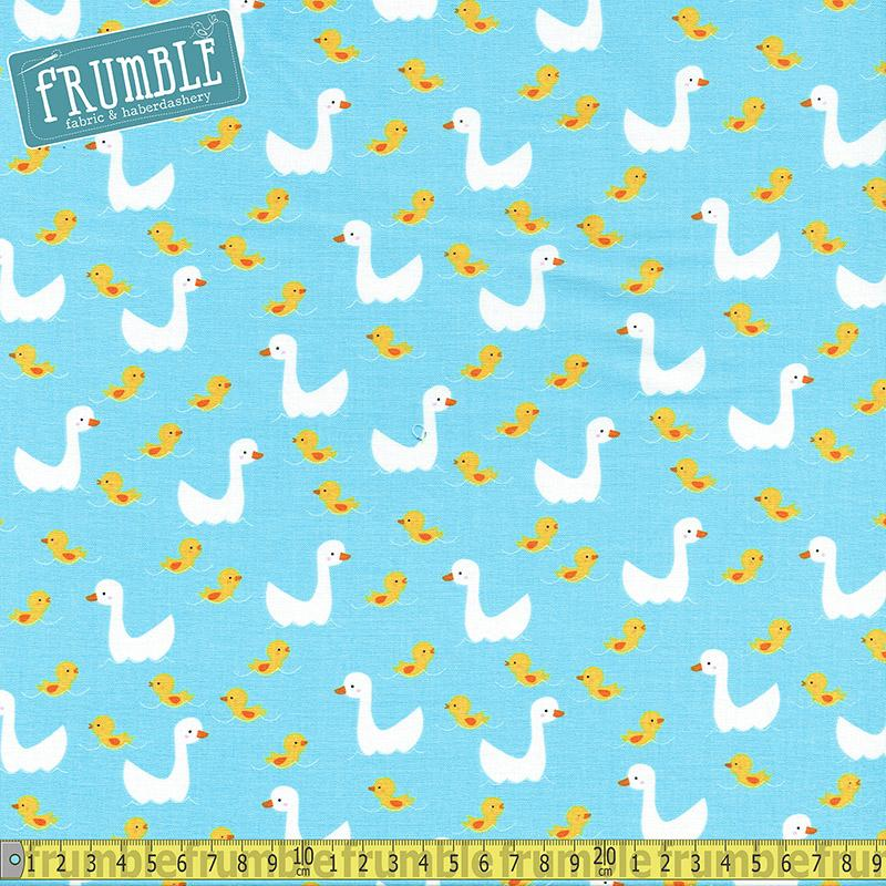 Farm Animals Ducks on Water Fabric by Timeless Treasures