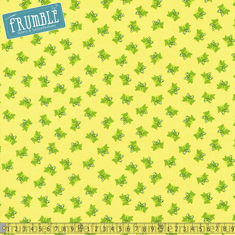 Frogs Yellow - Frumble Fabrics