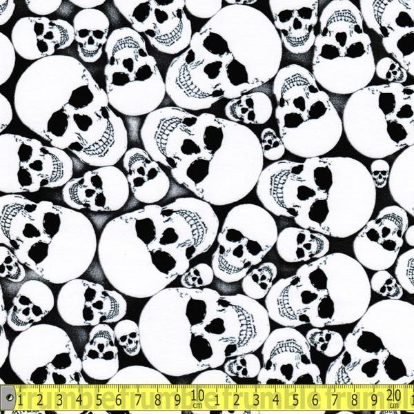 Glow In The Dark Skulls Fabric by Timeless Treasures