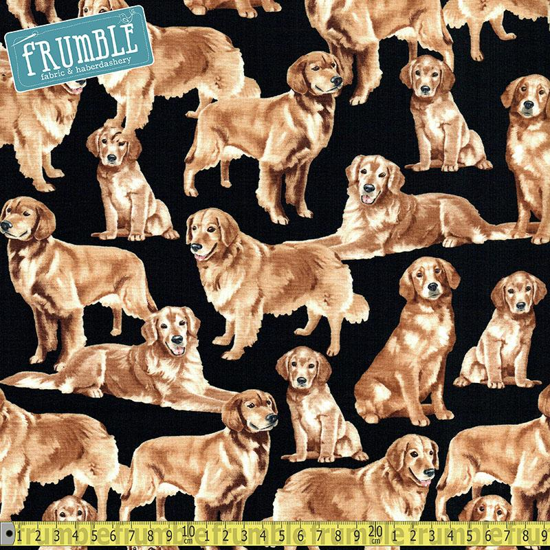 Golden Retrievers Fabric by Timeless Treasures