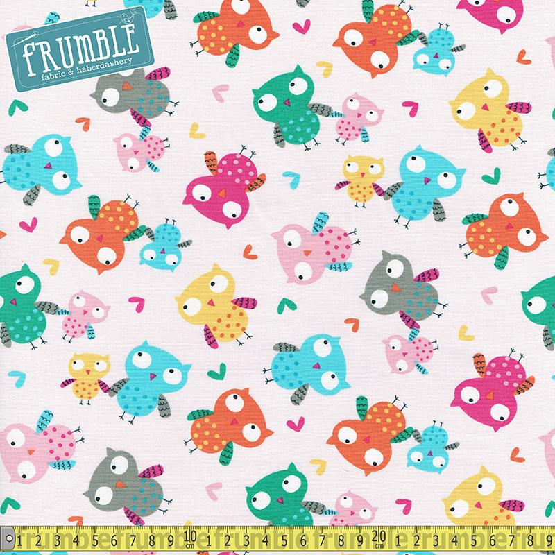 Happy Campers Owls Pink - Frumble Fabrics