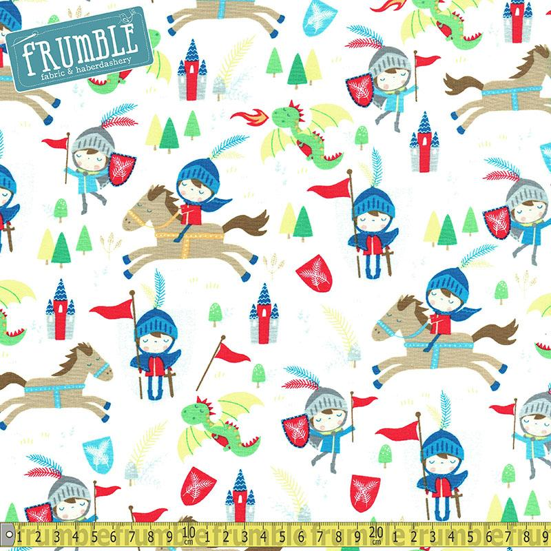 Knights & Horses Cream - Frumble Fabrics