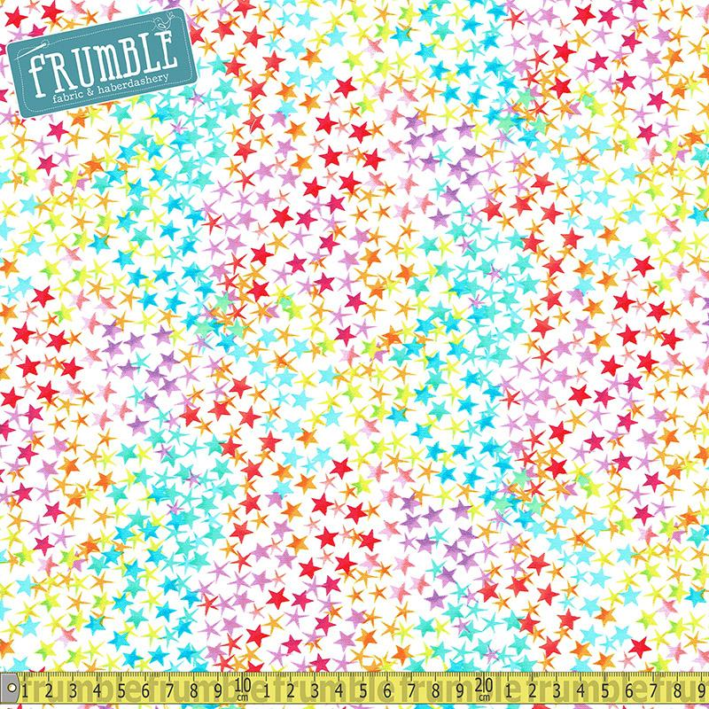 Rainbow Stars Multi Fabric by Timeless Treasures