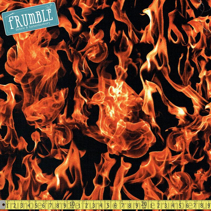 Realistic Fire Fabric by Timeless Treasures