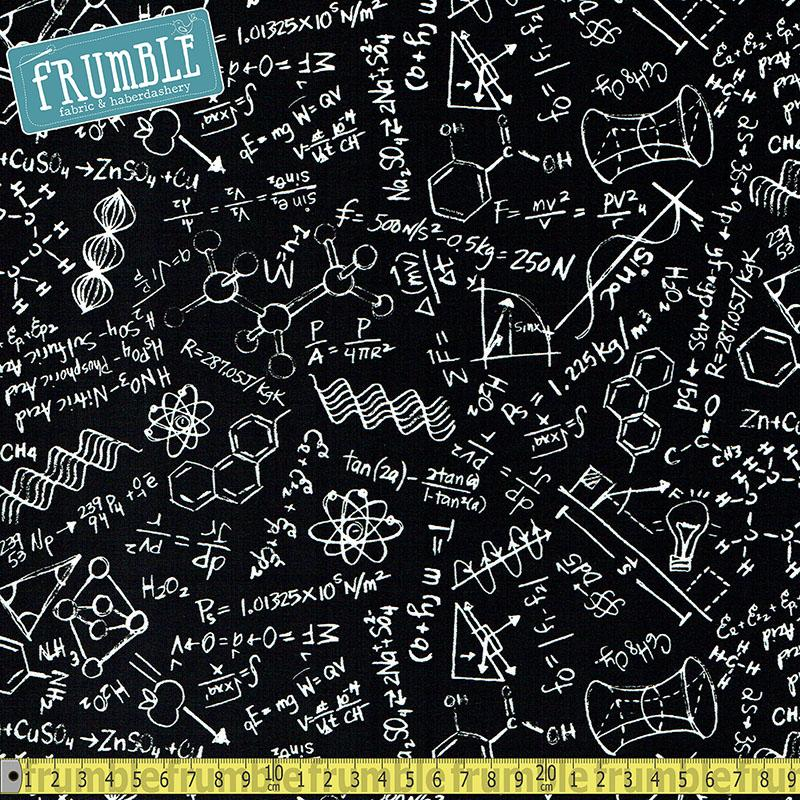 Science Chalkboard Fabric by Timeless Treasures