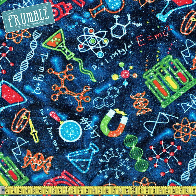 Science in Space Midnight Fabric by Timeless Treasures