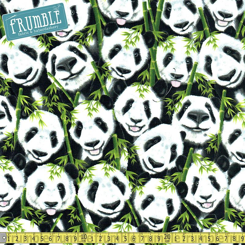 Selfie Pandas Fabric by Timeless Treasures