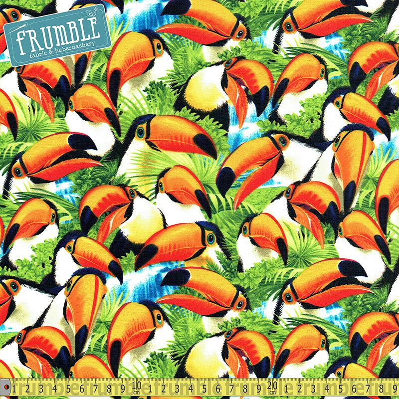 Selfie Toucans Fabric by Timeless Treasures