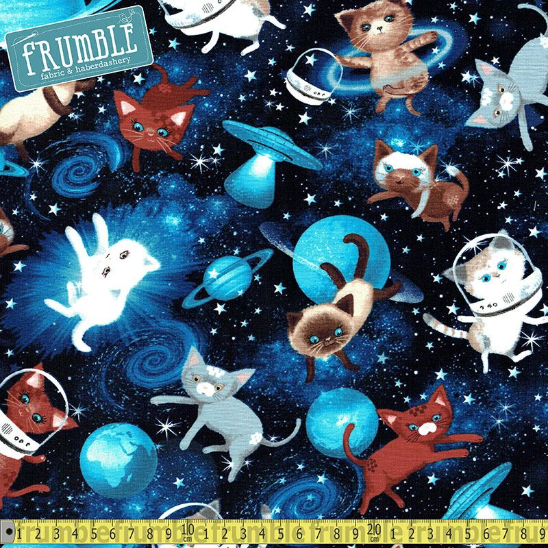 Space Cats Fabric by Timeless Treasures
