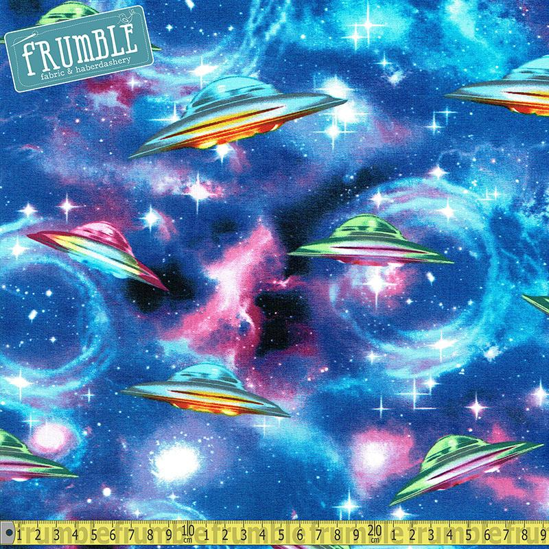 UFO Spaceships Fabric by Timeless Treasures