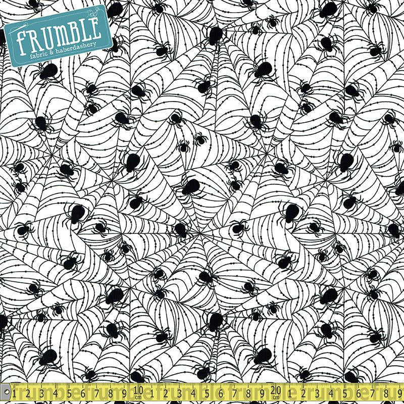 Wicked Spider Web White - Frumble Fabrics