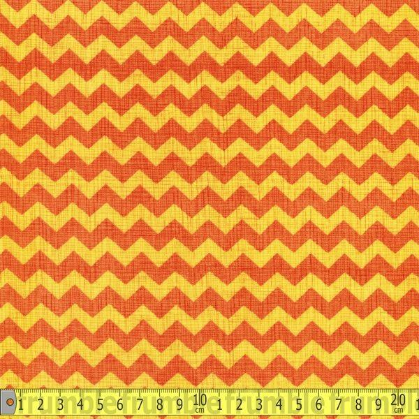 Ziggy Orange Fabric by Timeless Treasures