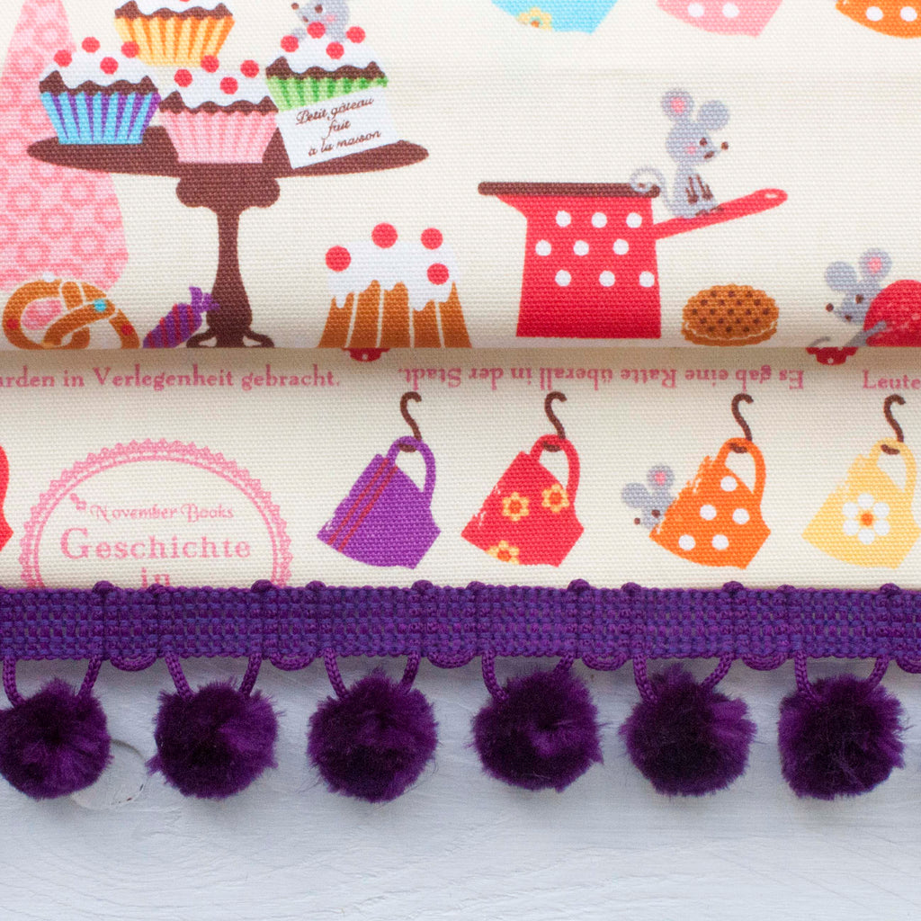SAMPLES: Fluffy Furnishing Pom Pom Trim - Frumble Fabrics