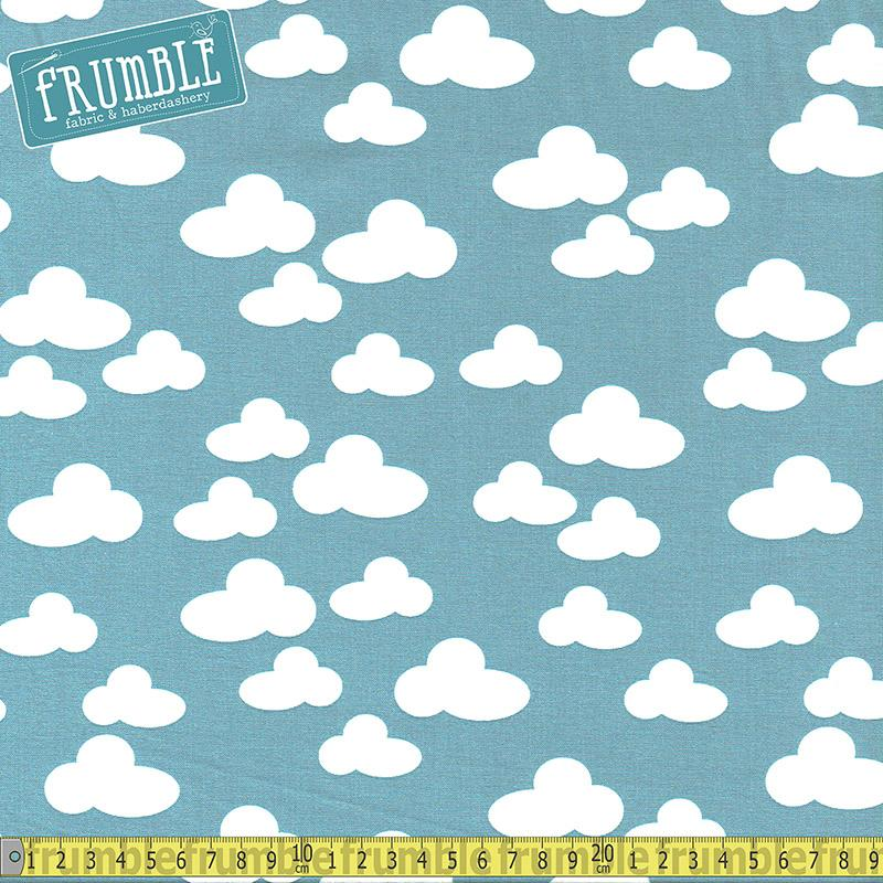 Farm Clouds Grey Blue Fabric by Windham