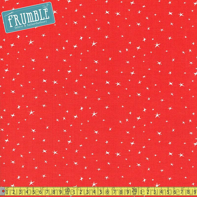 Nursery Rhymes Stars Red - Frumble Fabrics
