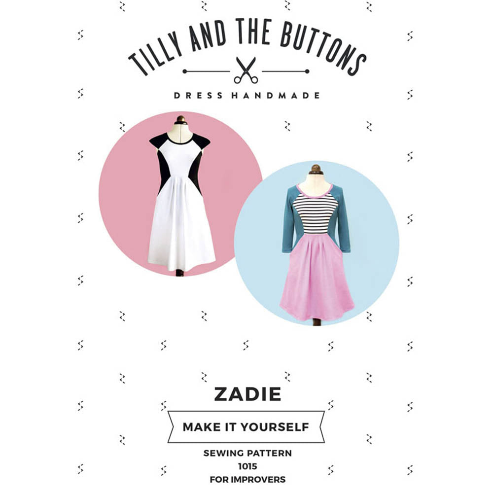 1015 Zadie Knit Dress - Tilly and the Buttons Pattern - Frumble Fabrics