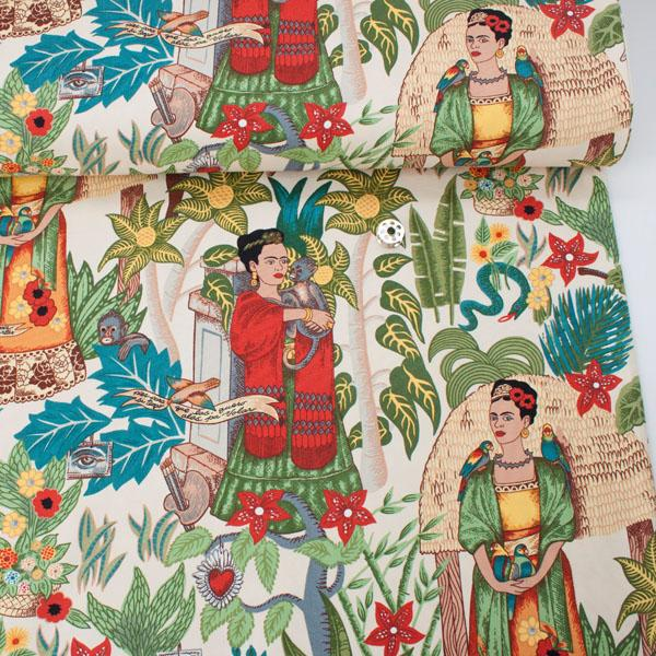 Deco Weight: Fridas Garden Tea Fabric by Alexander Henry