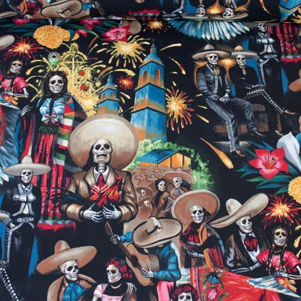 Fiesta De San Marcos Midnight Fabric by Alexander Henry