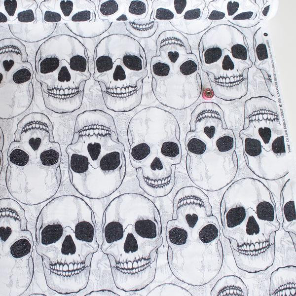 Yorick Natural Black Fabric by Alexander Henry