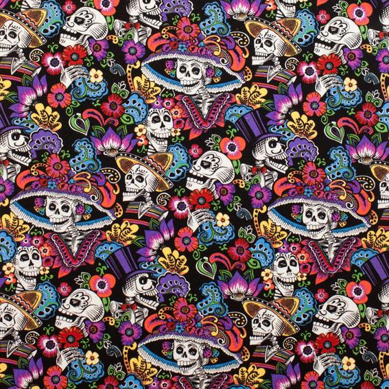 Catrina Chiquita Black Fabric by Alexander Henry