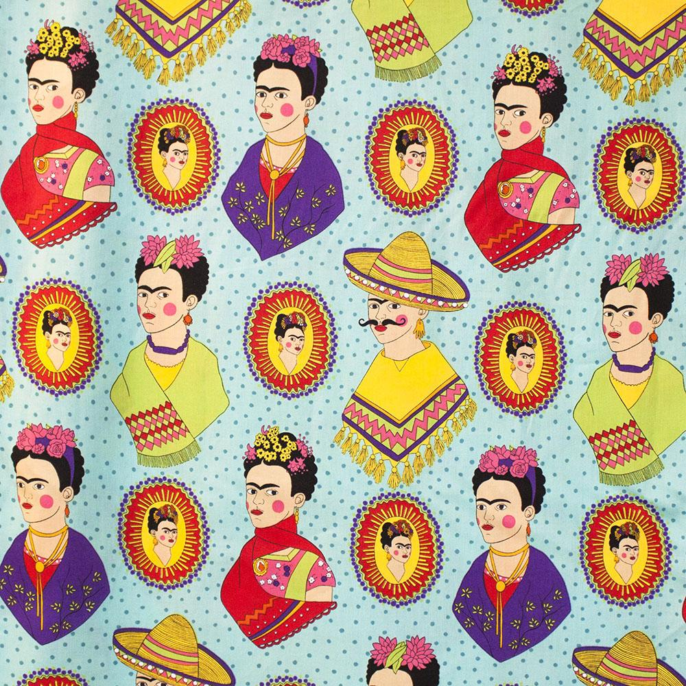Fantastico Frida Turquoise Fabric by Alexander Henry