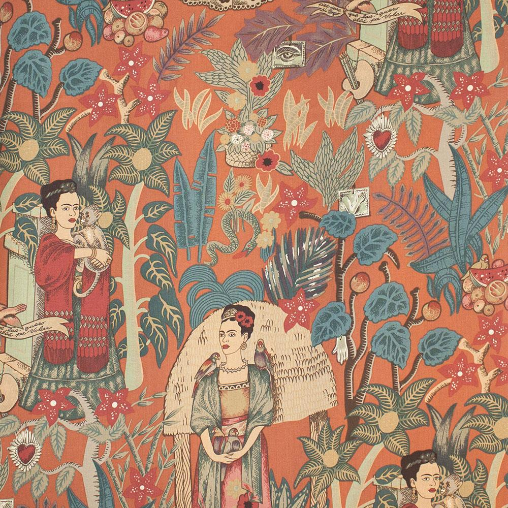 Fridas Garden Terra Cotta Fabric by Alexander Henry