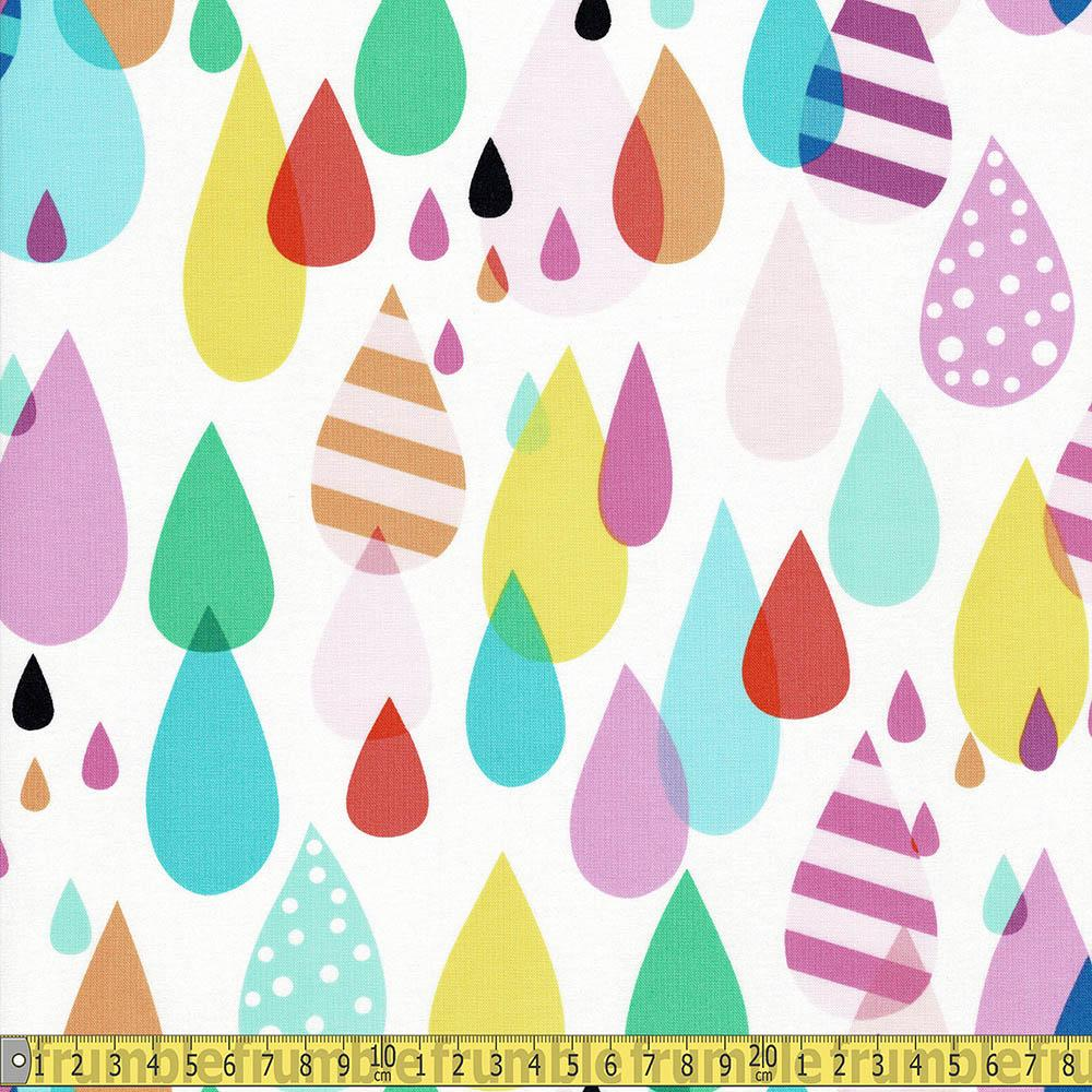 Raindrops Natural Multi Fabric by Alexander Henry