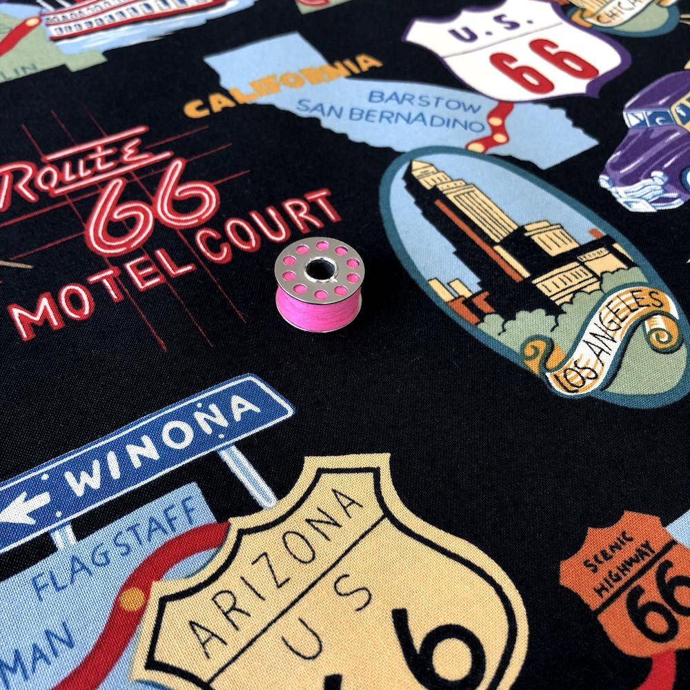 Route 66 Black - Frumble Fabrics