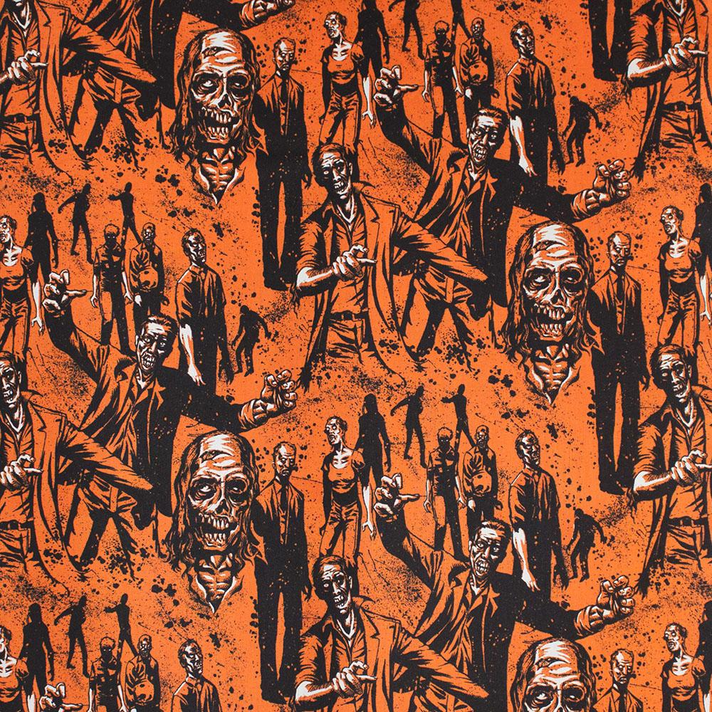 Zombie Orange Fabric by Alexander Henry