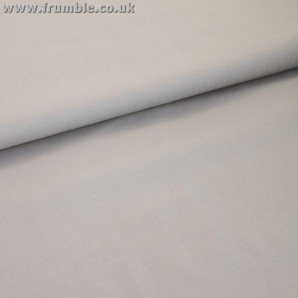 Wide 54 Cotton Klona (Per Metre) Ash Grey Fabric by Various
