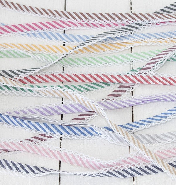 Stripe Lace Edge Bias Binding